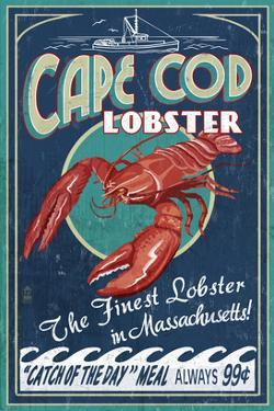 Cape Cod, Massachusetts - Lobster by Lantern Press
