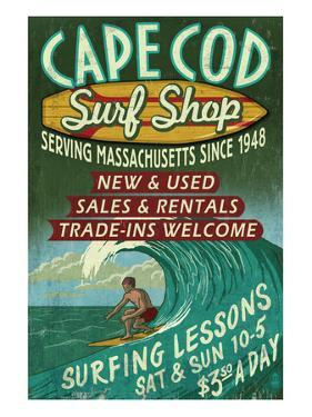 Cape Cod, Massachusetts - Surf Shop by Lantern Press