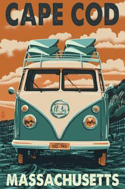 Cape Cod, Massachusetts - VW Van by Lantern Press