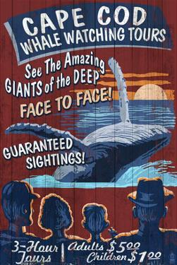 Cape Cod, Massachusetts - Whale Watching by Lantern Press