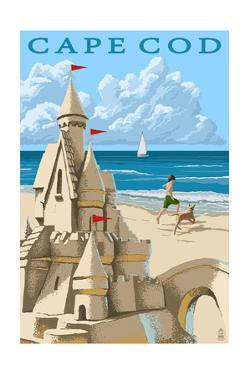 Cape Cod - Sand Castle by Lantern Press