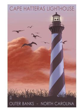 Cape Hatteras Lighthouse - North Carolina - Sunrise by Lantern Press