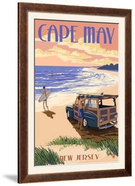Cape May, New Jersey - Woody on the Beach by Lantern Press