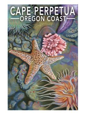 Cape Perpetua Tidepools - Oregon Coast by Lantern Press