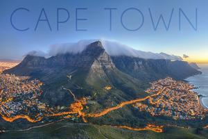 Cape Town, South Africa - Table Mountain by Lantern Press