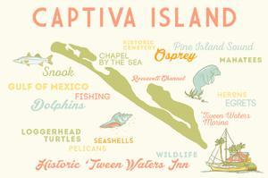 Captiva Island, Florida - Typography and Icons by Lantern Press