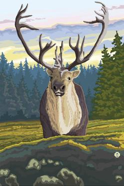 Caribou and Forest by Lantern Press
