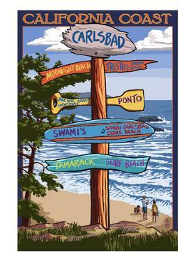 Carlsbad, California - Destination Sign by Lantern Press
