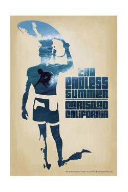 Carlsbad, California - the Endless Summer - Surfer Cutout Scene by Lantern Press