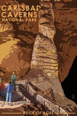 Carlsbad Caverns National Park, New Mexico - Rock of Ages by Lantern Press