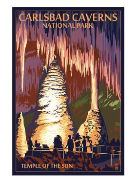 Carlsbad Caverns National Park, New Mexico - Temple of the Sun by Lantern Press