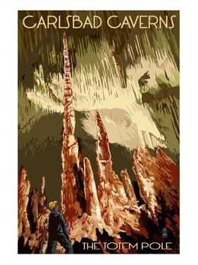 Carlsbad Caverns National Park, New Mexico - The Totem Pole by Lantern Press