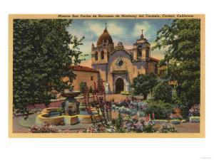 Carmel, CA - Mission San Carlos de Borromeo de Monterey by Lantern Press