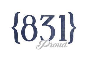 Carmel, California - 831 Area Code (Blue) by Lantern Press