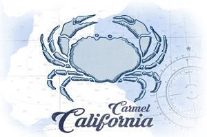 Carmel, California - Crab - Blue - Coastal Icon by Lantern Press