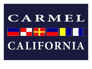 Carmel, California - Nautical Flags by Lantern Press