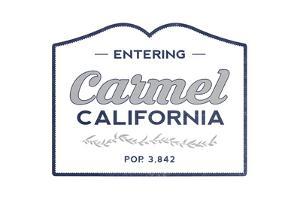 Carmel, California - Now Entering (Blue) by Lantern Press