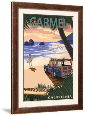 Carmel, California - Woody on the Beach by Lantern Press