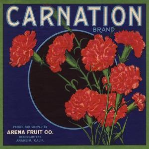 Carnation Brand - Anaheim, California - Citrus Crate Label by Lantern Press