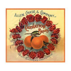 Carnation Brand - California - Citrus Crate Label by Lantern Press