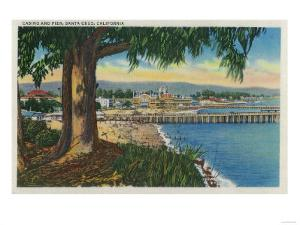 Casino and Pier, Santa Cruz - Santa Cruz, CA by Lantern Press
