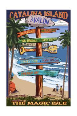 Catalina Island, California - Destination Sign #2 by Lantern Press