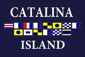 Catalina Island, California - Nautical Flags #2 by Lantern Press