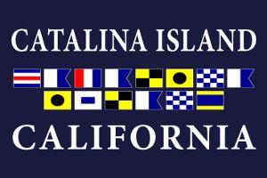 Catalina Island, California - Nautical Flags by Lantern Press