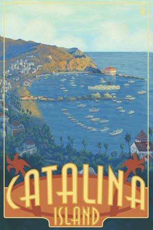 Catalina Island, California, Travel Scene by Lantern Press
