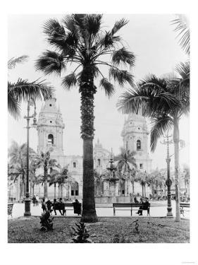 Cathedral in the Plaza de Armas in Peru Photograph - Lima, Peru by Lantern Press
