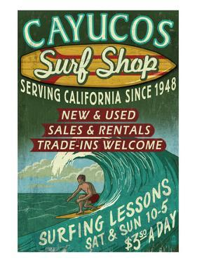 Cayucos, California - Surf Shop by Lantern Press