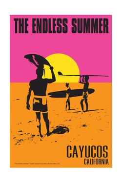 Cayucos, California - the Endless Summer - Original Movie Poster by Lantern Press
