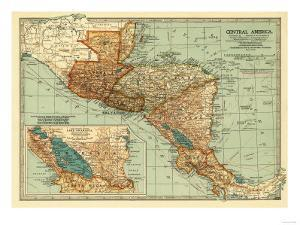 Central America - Panoramic Map by Lantern Press