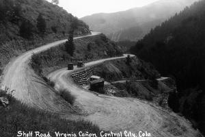 Central City, Colorado - Shelf Road in Virginia Canyon by Lantern Press