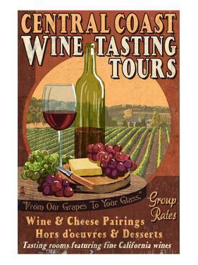 Central Coast, California - Wine Tasting by Lantern Press
