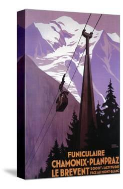 Chamonix-Mont Blanc, France - Funicular Railway to Brevent Mt. by Lantern Press