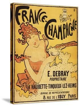 Champagne, France - E. Debray Champagne Advertisement Poster by Lantern Press