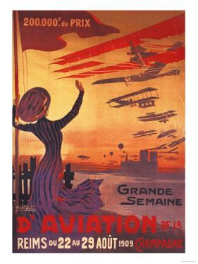 Champagne, France - Great Week of Aviation by Lantern Press