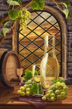 Chardonnay (Image Only) by Lantern Press