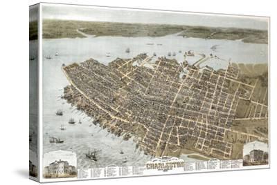 Charleston, South Carolina - Panoramic Map by Lantern Press