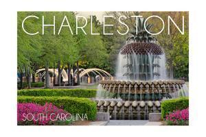 Charleston, South Carolina - Pineapple Fountain by Lantern Press