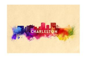 Charleston, South Carolina - Skyline Abstract by Lantern Press
