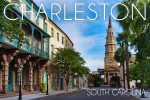 Charleston, South Carolina - Street View by Lantern Press