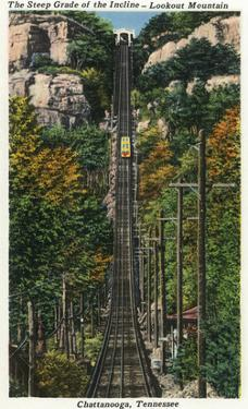 Chattanooga, Tennessee - General View of the Lookout Mountain Incline by Lantern Press