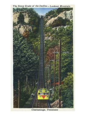 Chattanooga, Tennessee - Lookout Mountain Incline Rail View by Lantern Press