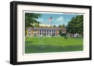 Chautauqua, New York - Exterior View of the Colonnade Building by Lantern Press