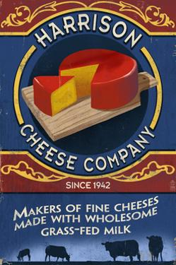 Cheese - Vintage Sign by Lantern Press