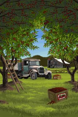 Cherry Orchard Harvest by Lantern Press