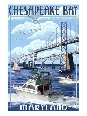 Chesapeake Bay Bridge - Maryland by Lantern Press
