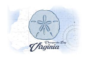Chesapeake Bay, Virginia - Sand Dollar - Blue - Coastal Icon by Lantern Press